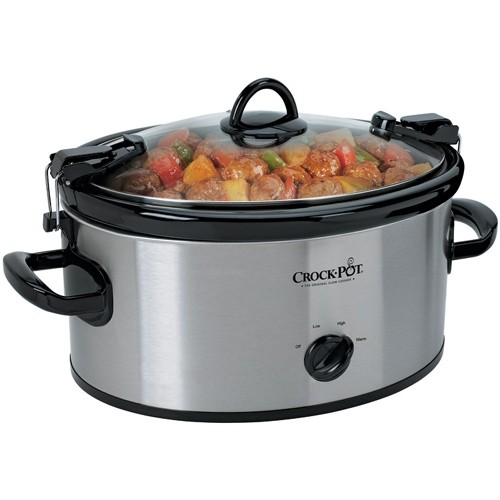 Crock-pot - Slow Cooker - Stainless Steel - Larger Front