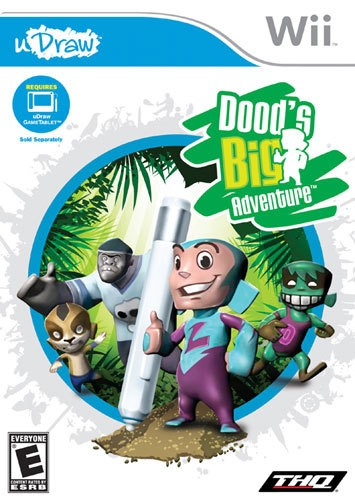 uDraw Dood's Big Adventure - Nintendo Wii - Larger Front
