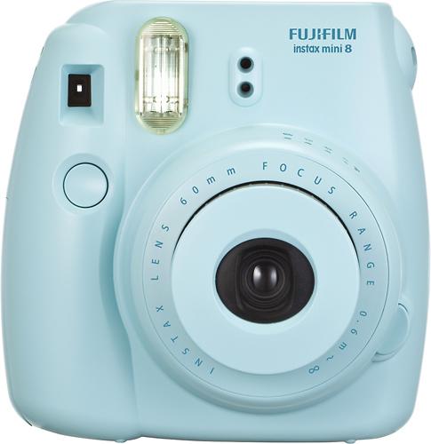 Fujifilm - instax mini 8 Instant Film Camera - Blue - Larger Front
