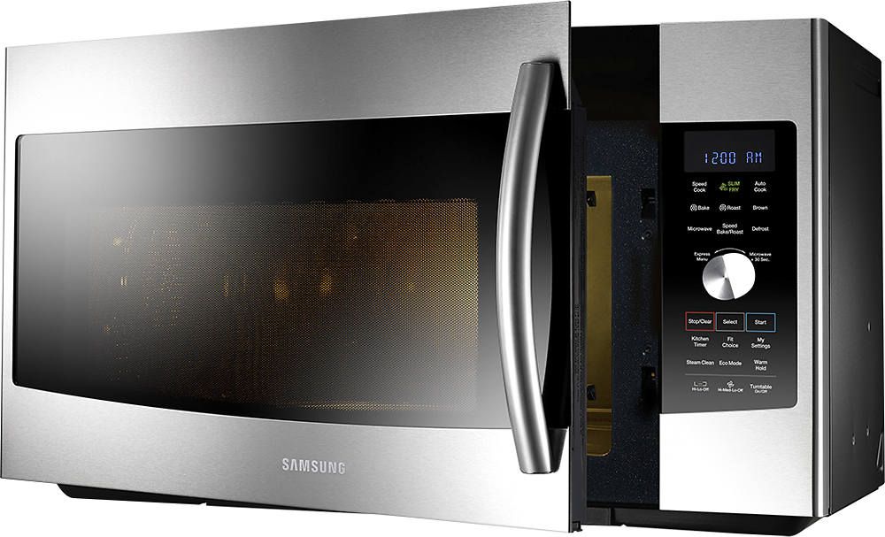 samsung 1 7 cu ft slim fry over the range convection microwave stainless steel