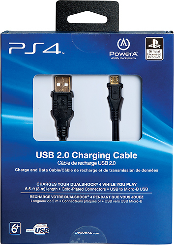 Sony 65 USB 20 Charging Cable For PS4 Black CPFA122462