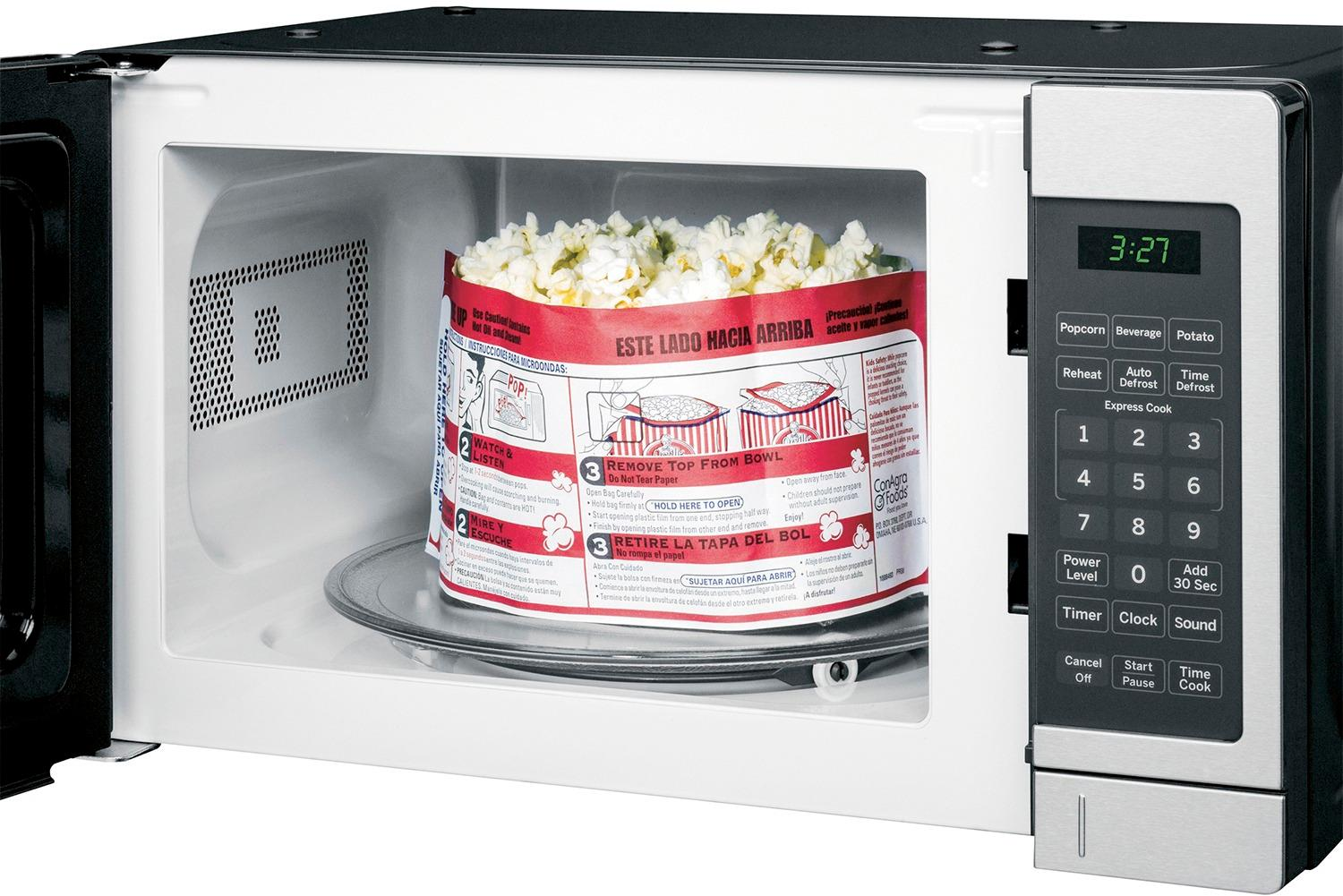 ge 0 7 cu ft compact microwave stainless steel