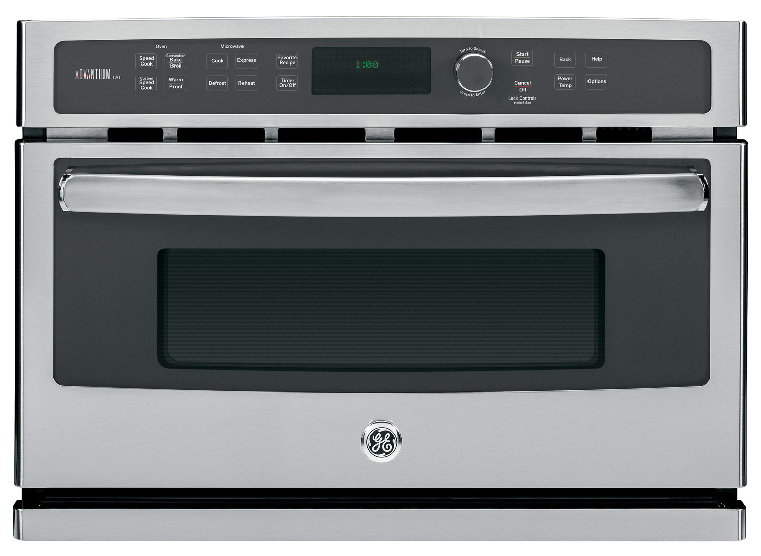 ge profile advantium 27 built in single electric wall oven stainless steel