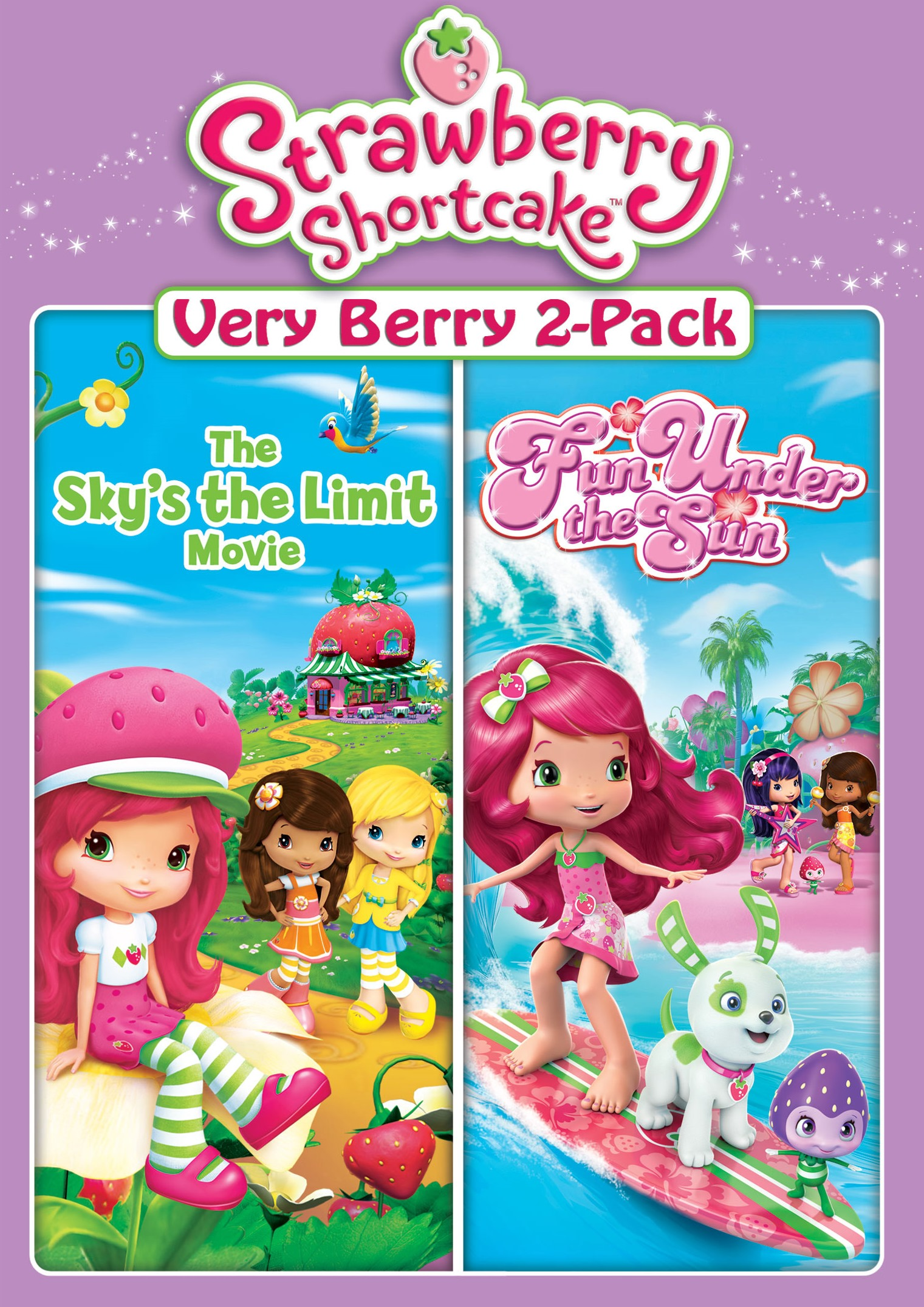 Best Buy Strawberry Shortcake Very Berry 2 Pack The Skys The Limit MovieFun Under The Sun DVD