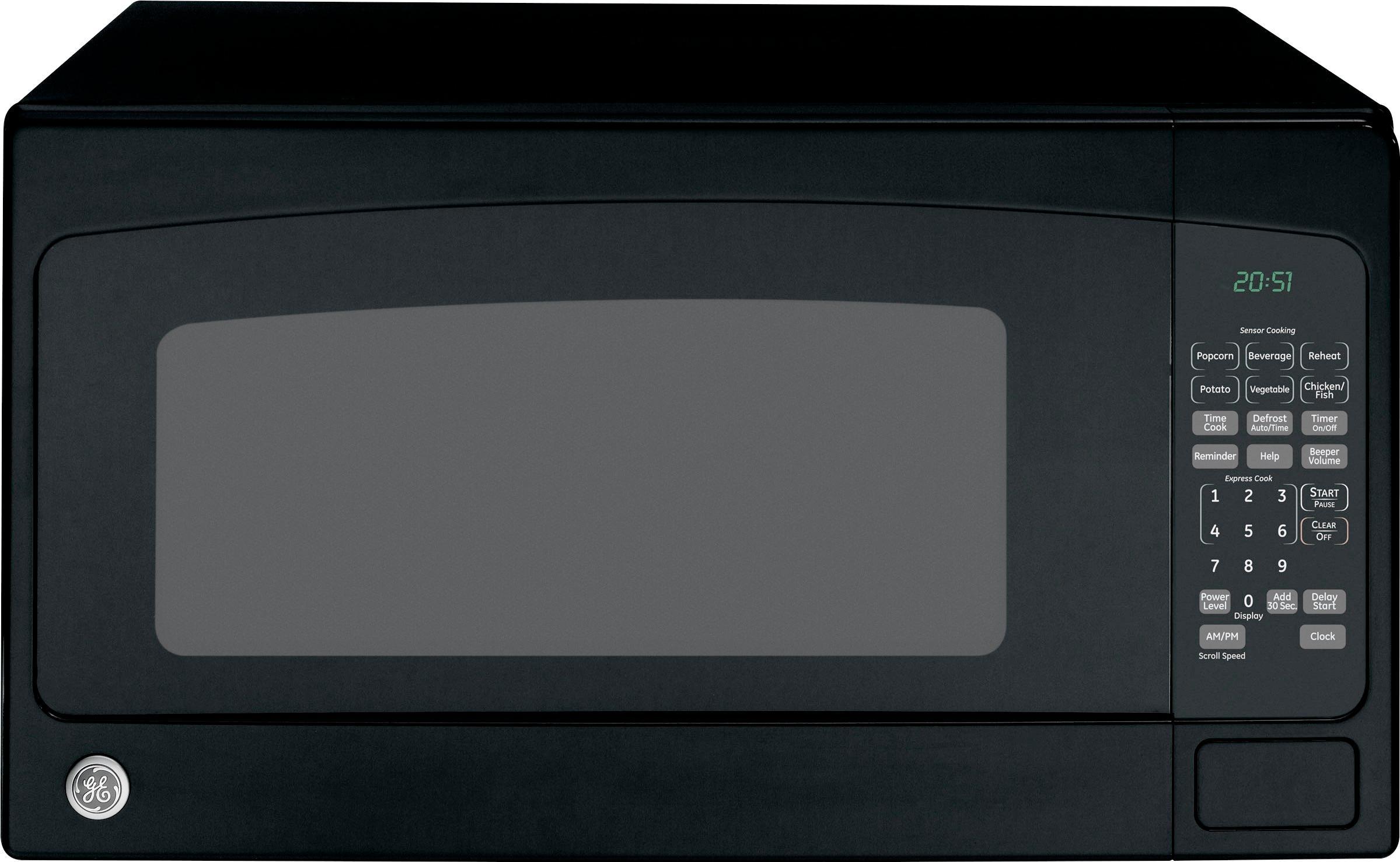 ge 2 0 cu ft full size microwave black