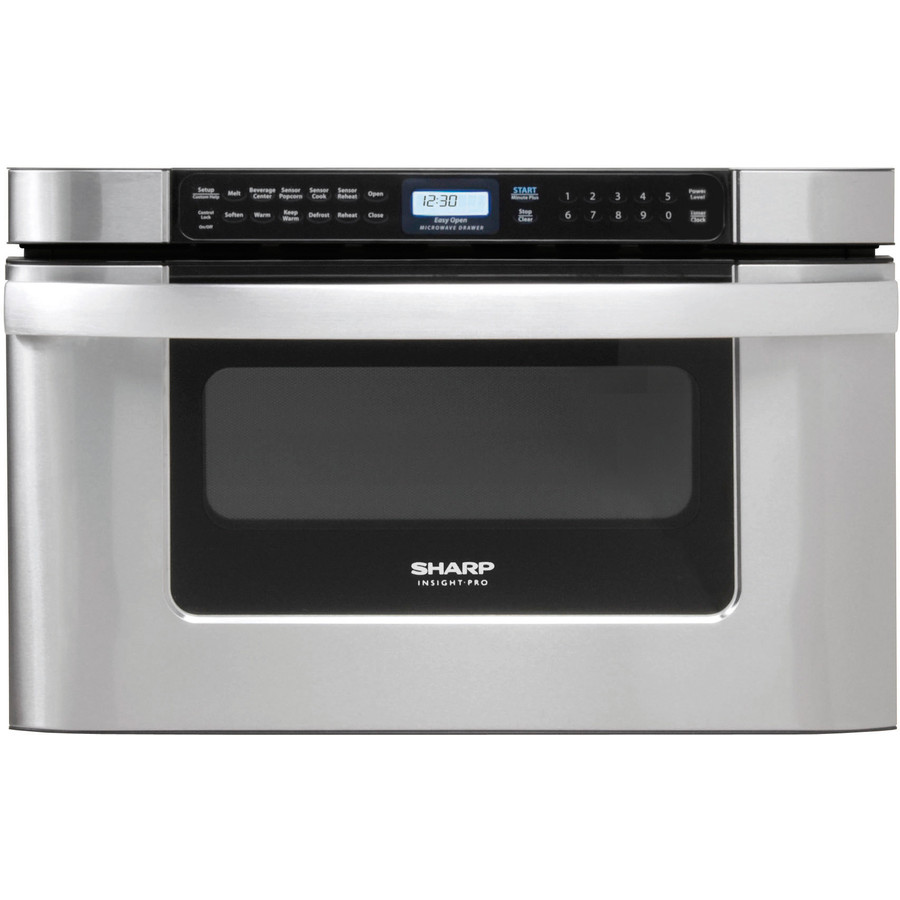 sharp 24 1 2 cu ft built in microwave drawer stainless steel