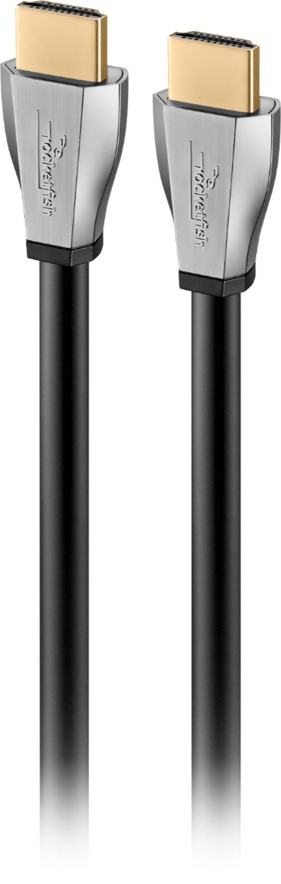 Rocketfish™ - 4' 4K UltraHD/HDR In-Wall Rated HDMI Cable - Black