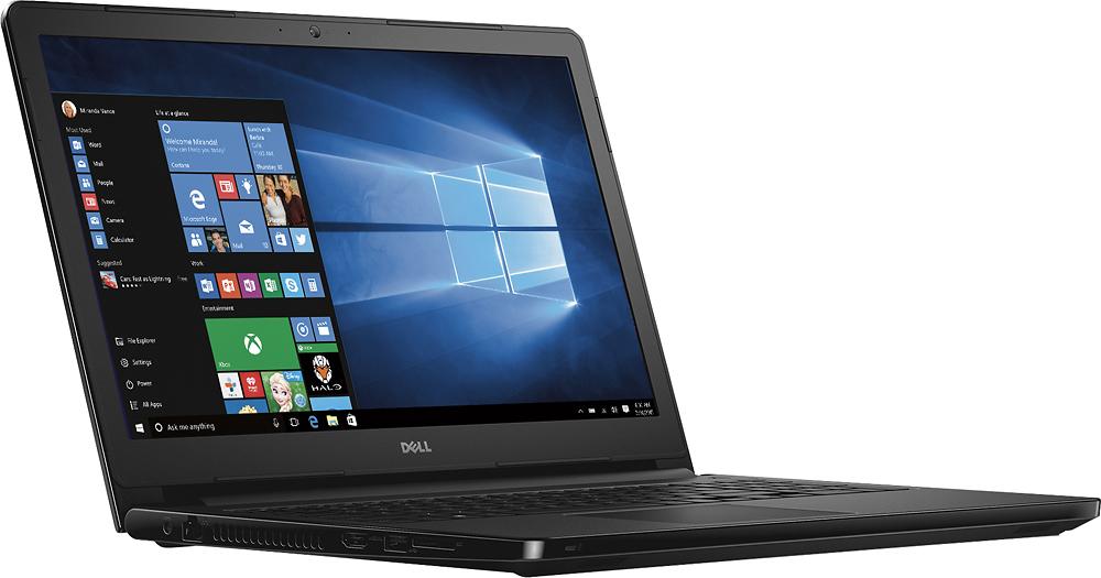 "Dell - Inspiron 15.6"" Touch-Screen Laptop - Intel Core i3 - 8GB Memory - 1TB Hard Drive - Black Gloss - Angle Zoom"