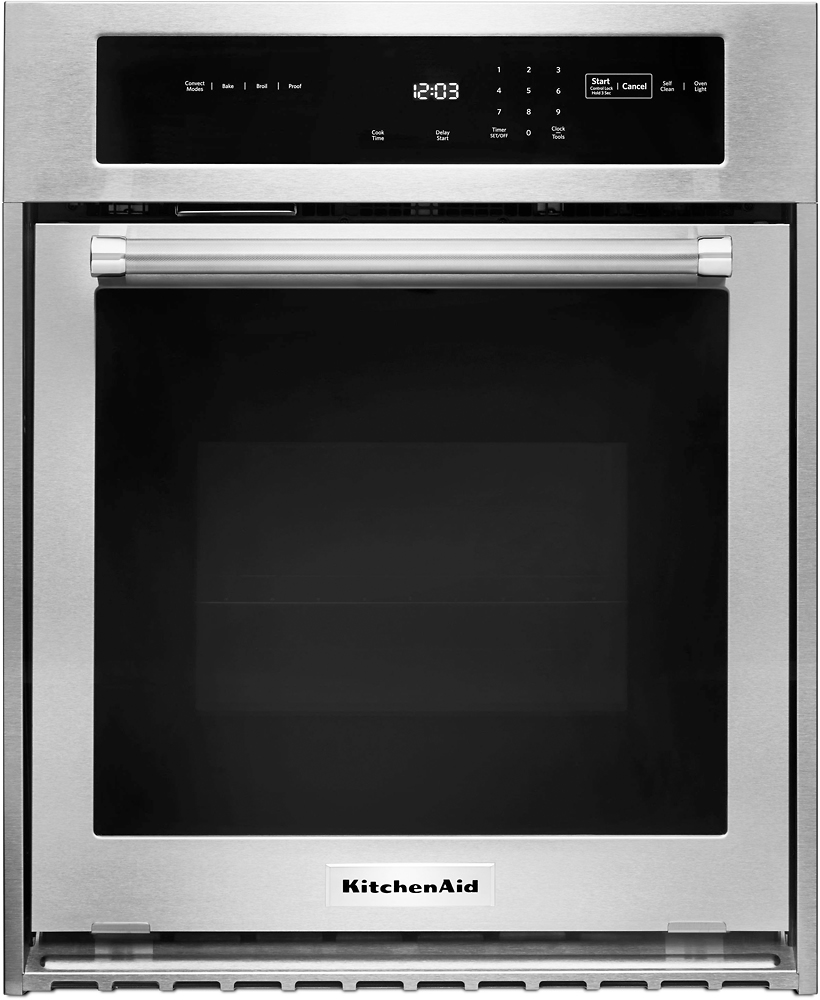 kitchenaid 24 built in single electric convection wall oven stainless steel