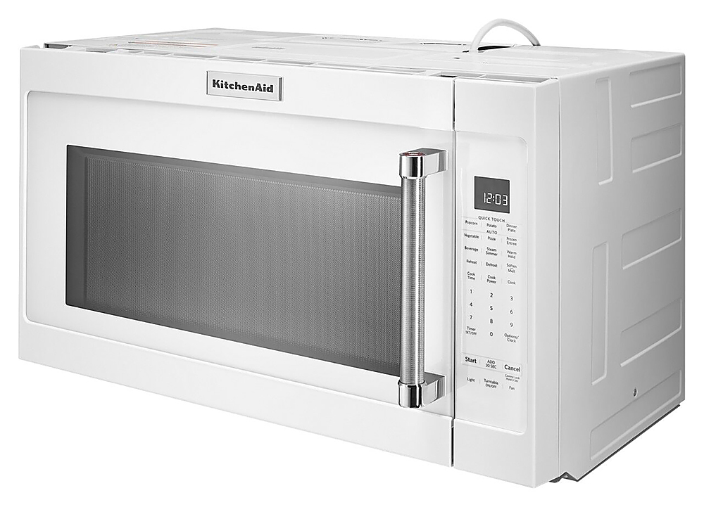 kitchenaid 2 0 cu ft over the range microwave with sensor cooking white