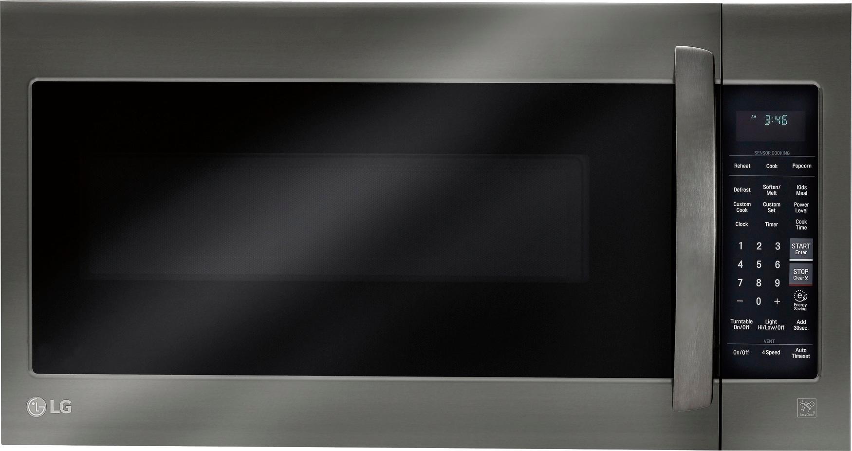 lg 2 0 cu ft over the range microwave with sensor cooking printproof black stainless steel