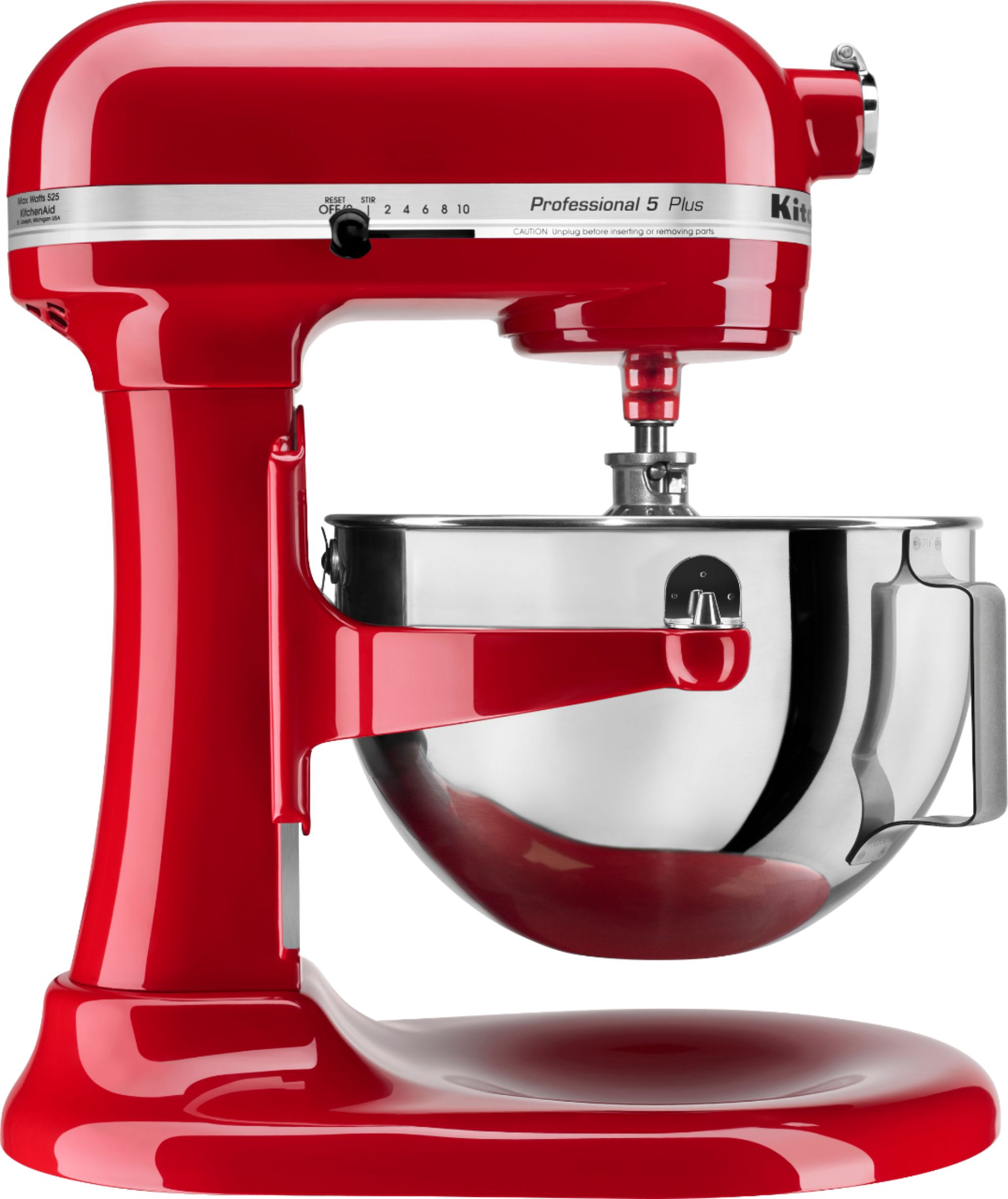KitchenAid - Professional 5 Plus Series Stand Mixer - Empire Red - Angle Zoom