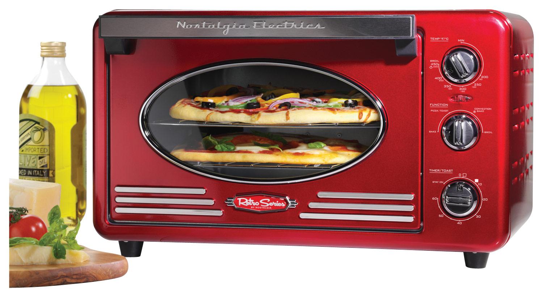 Nostalgia Electrics Retro Series 6 Slice Toaster Oven Red RTOV220RETRORED Best Buy