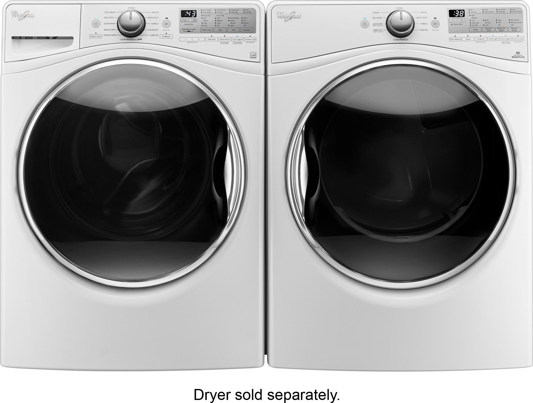 Whirlpool Duet 45cu Ft Highefficiency Frontload Washer With