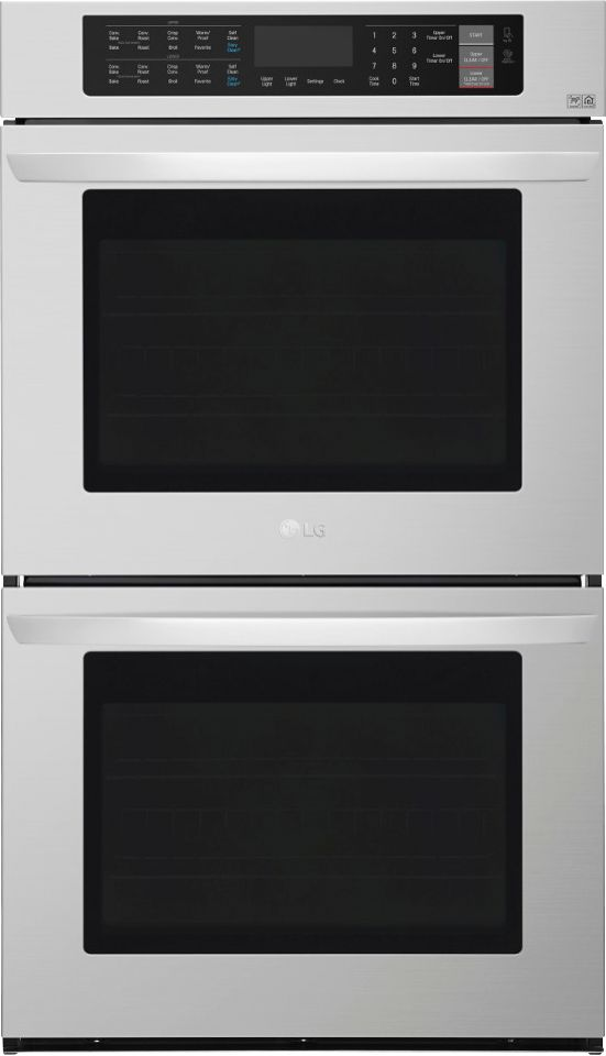 lg 30 built in double electric convection wall oven with easyclean stainless steel