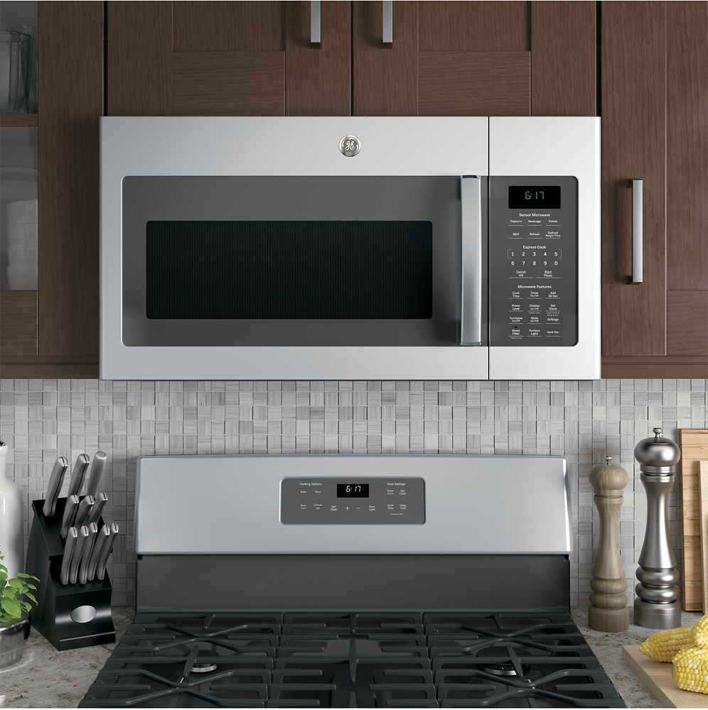 ge 1 7 cu ft over the range microwave stainless steel jvm6175skss best buy