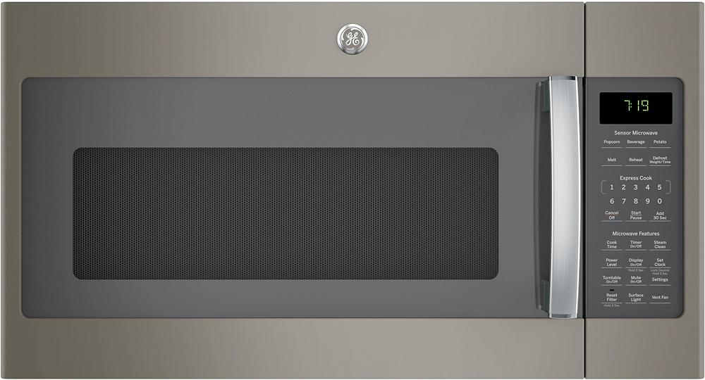 ge 1 9 cu ft over the range microwave with sensor cooking slate jvm7195ekes best buy