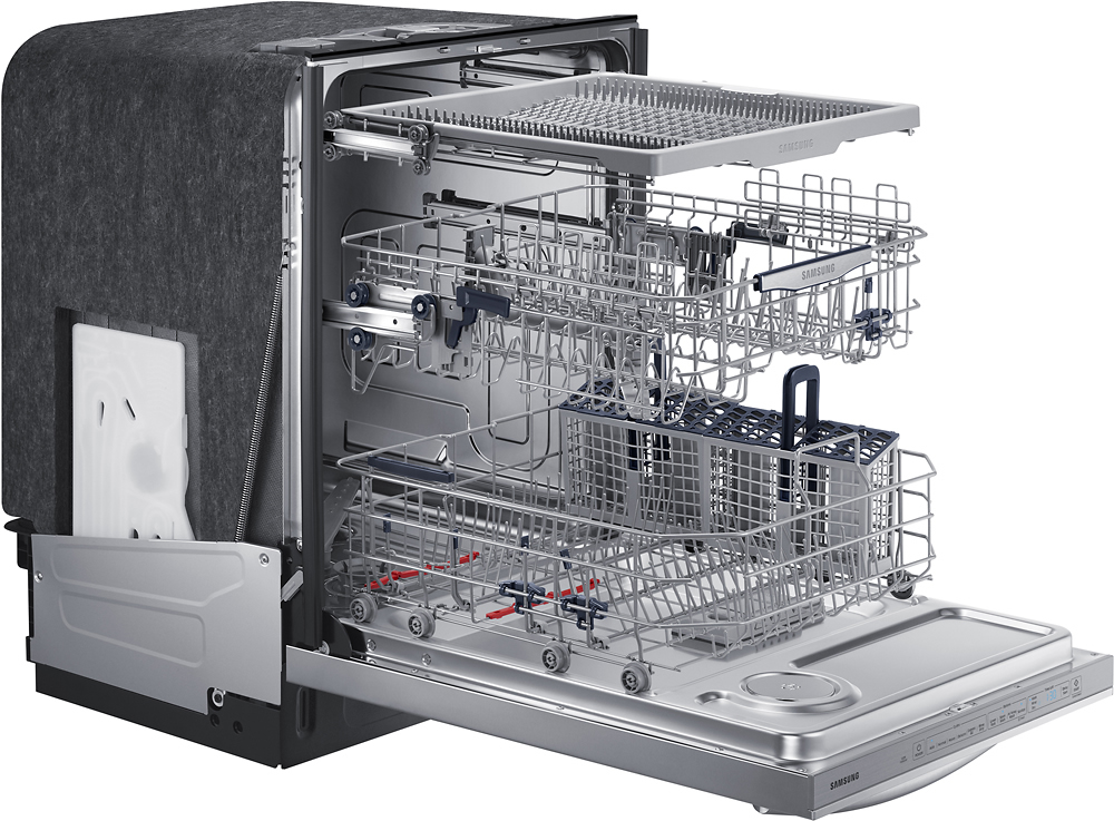 samsung stormwash 3rd rack 24 top control built in dishwasher stainless steel