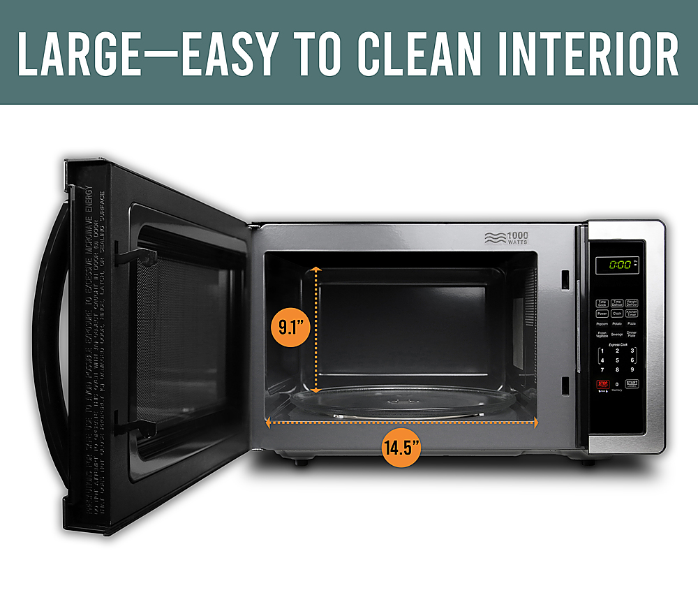 farberware classic 1 1 cu ft countertop microwave oven stainless steel