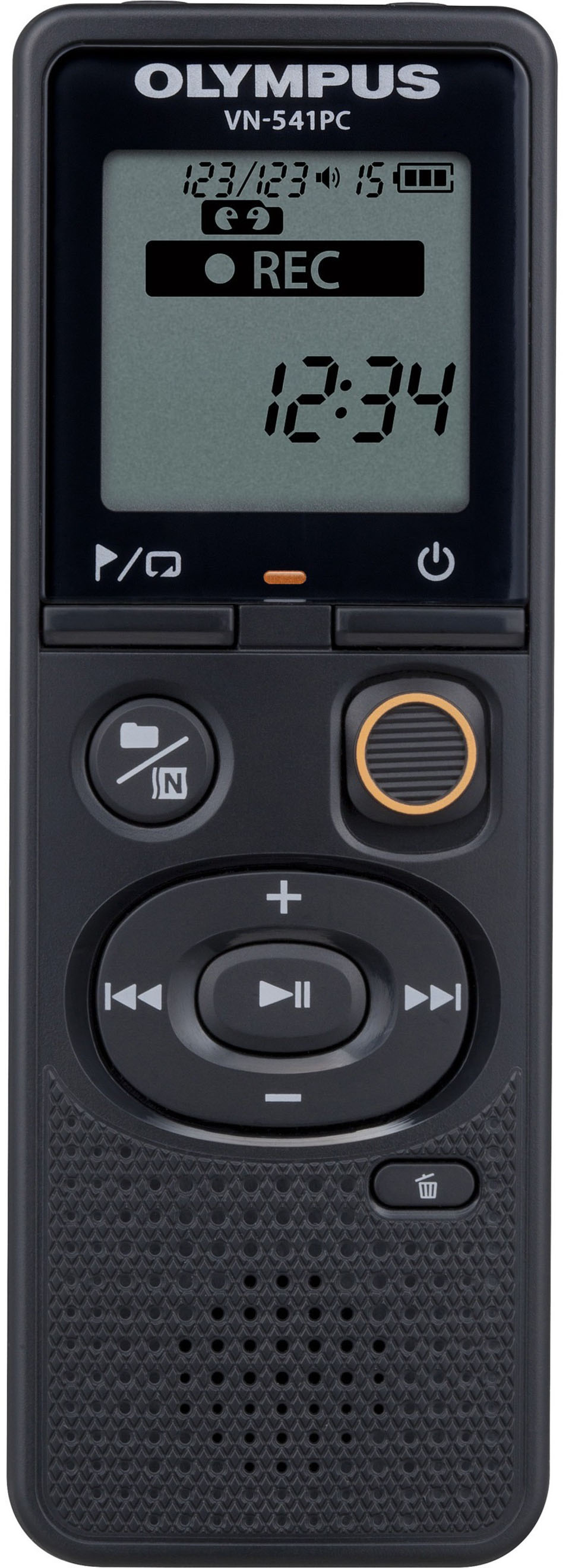 Olympus - VN-Series Digital Voice Recorder - Black - Front Zoom