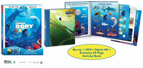 Finding Dory [Includes Digital Copy] [Blu-ray/DVD] [Activity Book] [Only @ Best Buy] [2016] - Front_Standard