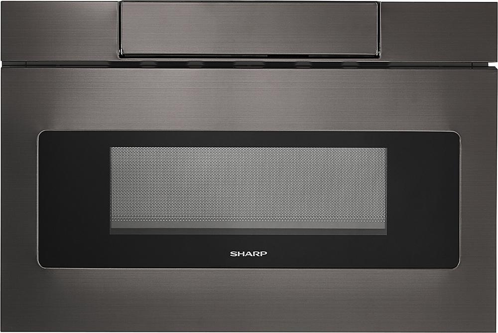 sharp 24 1 2 cu ft built in microwave drawer black stainless steel