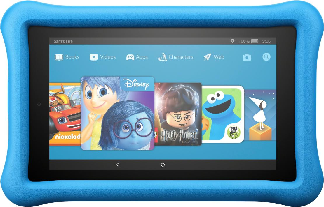 """Amazon - Fire Kids Edition - 7"""" - Tablet - 16GB 7th Generation, 2017 Release - Blue"""