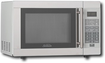 sunbeam 0 7 cu ft microwave stainless