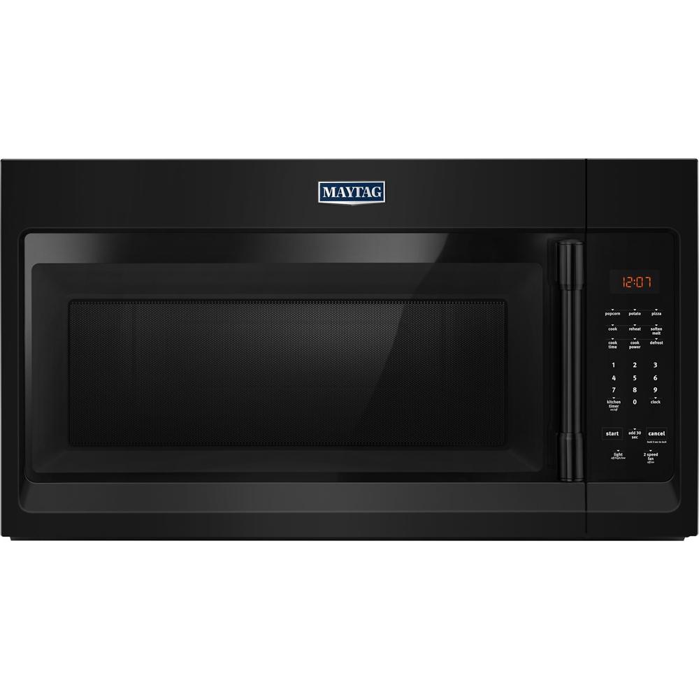 maytag 1 7 cu ft over the range microwave black
