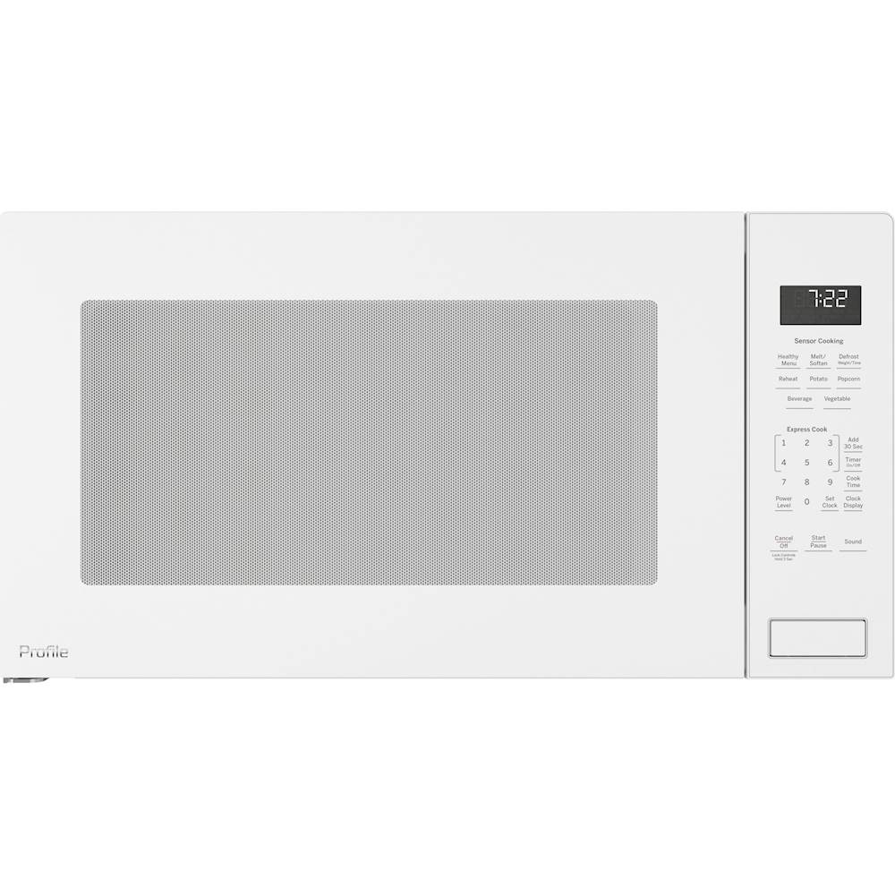 ge profile series 2 2 cu ft built in microwave white