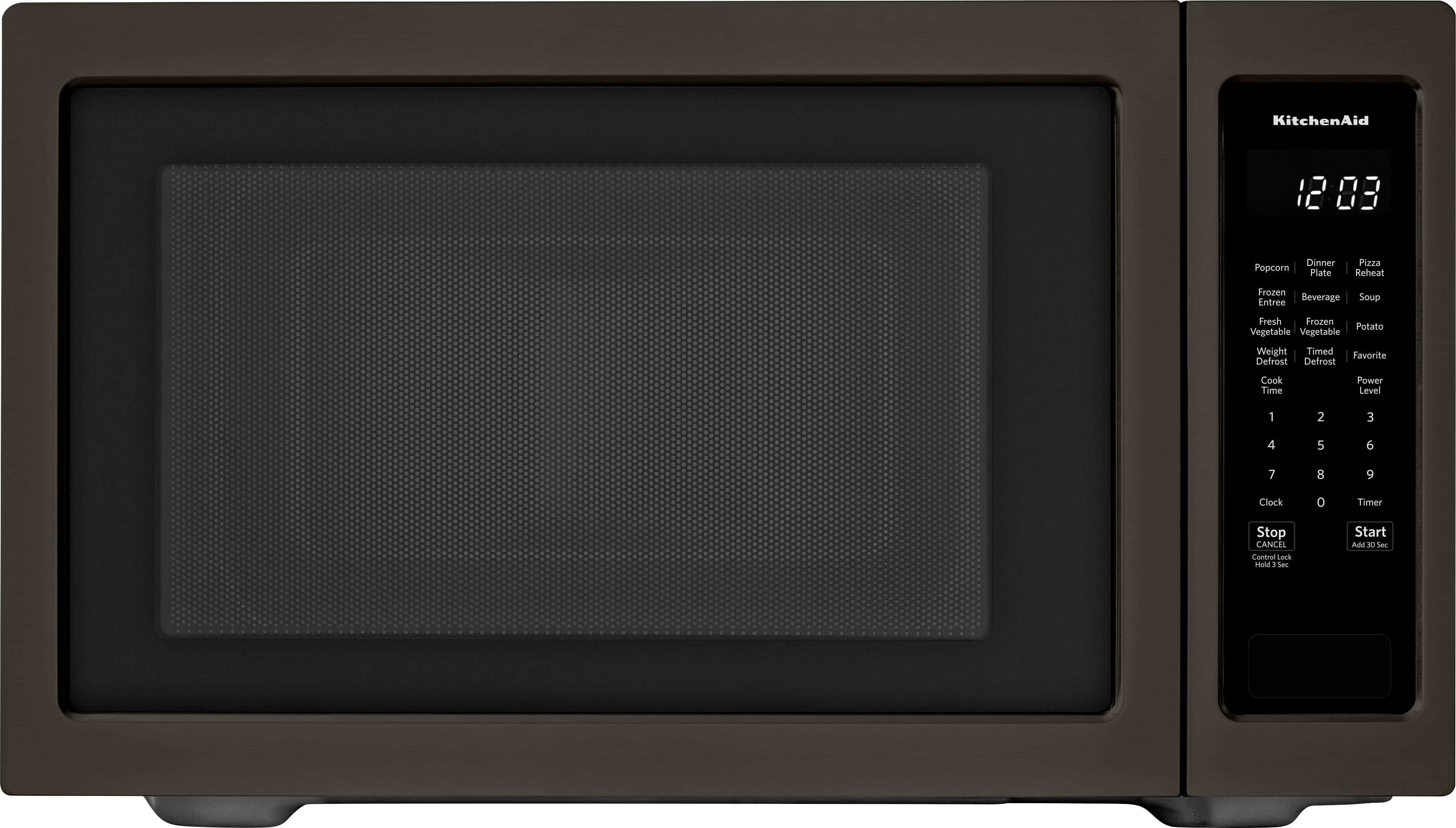 kitchenaid 2 2 cu ft microwave with sensor cooking black stainless steel