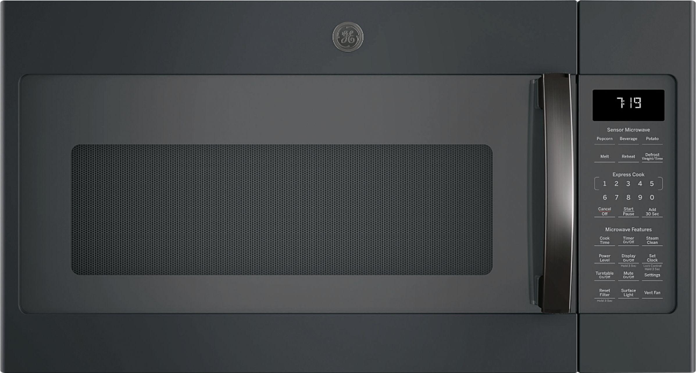 ge 1 9 cu ft over the range microwave black slate