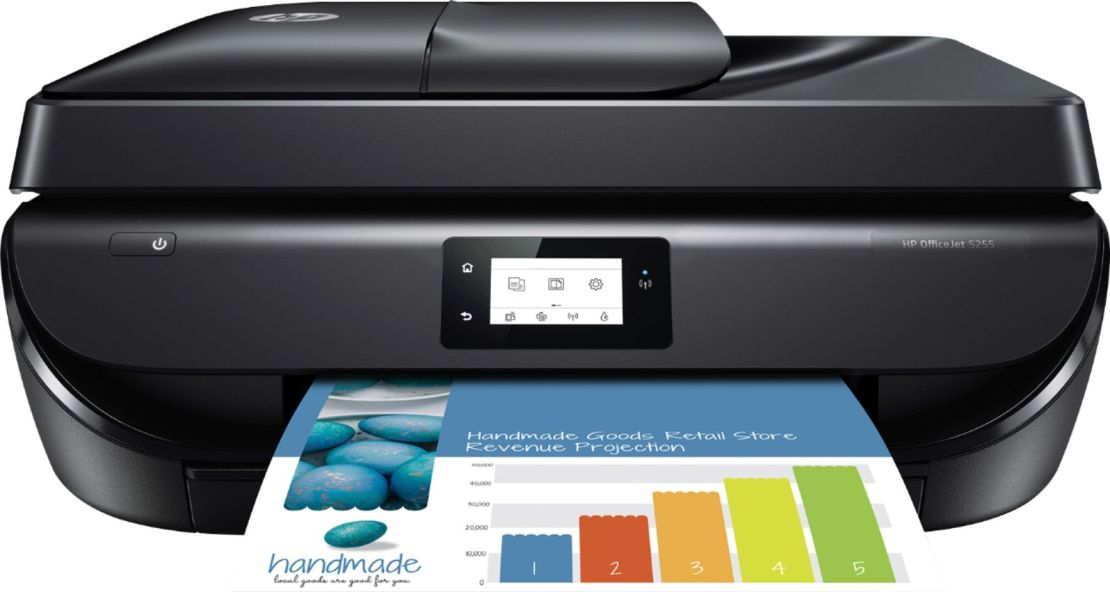 HP - OfficeJet 5255 All-in-One Instant Ink Ready Printer - Black