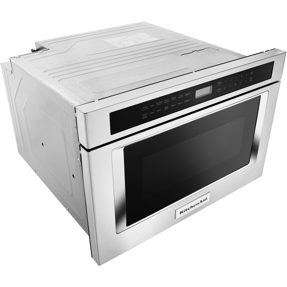 kitchenaid 24 1 2 cu ft built in microwave drawer stainless steel
