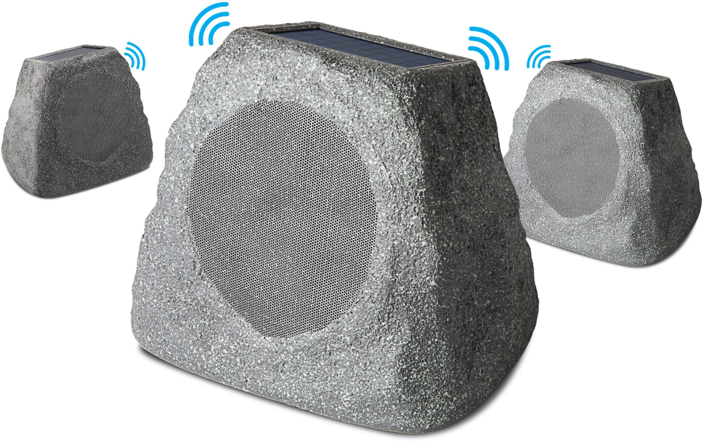ion audio powered wireless outdoor speaker each gray
