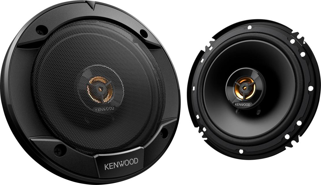 "Kenwood - Road Series 6-1/2"" 2-Way Car Speakers with Cloth Cones (Pair) - Black"