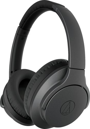Audio-Technica - QuietPoint ATH-ANC700BT Wireless Noise Cancelling Over-the-Ear Headphones - Black