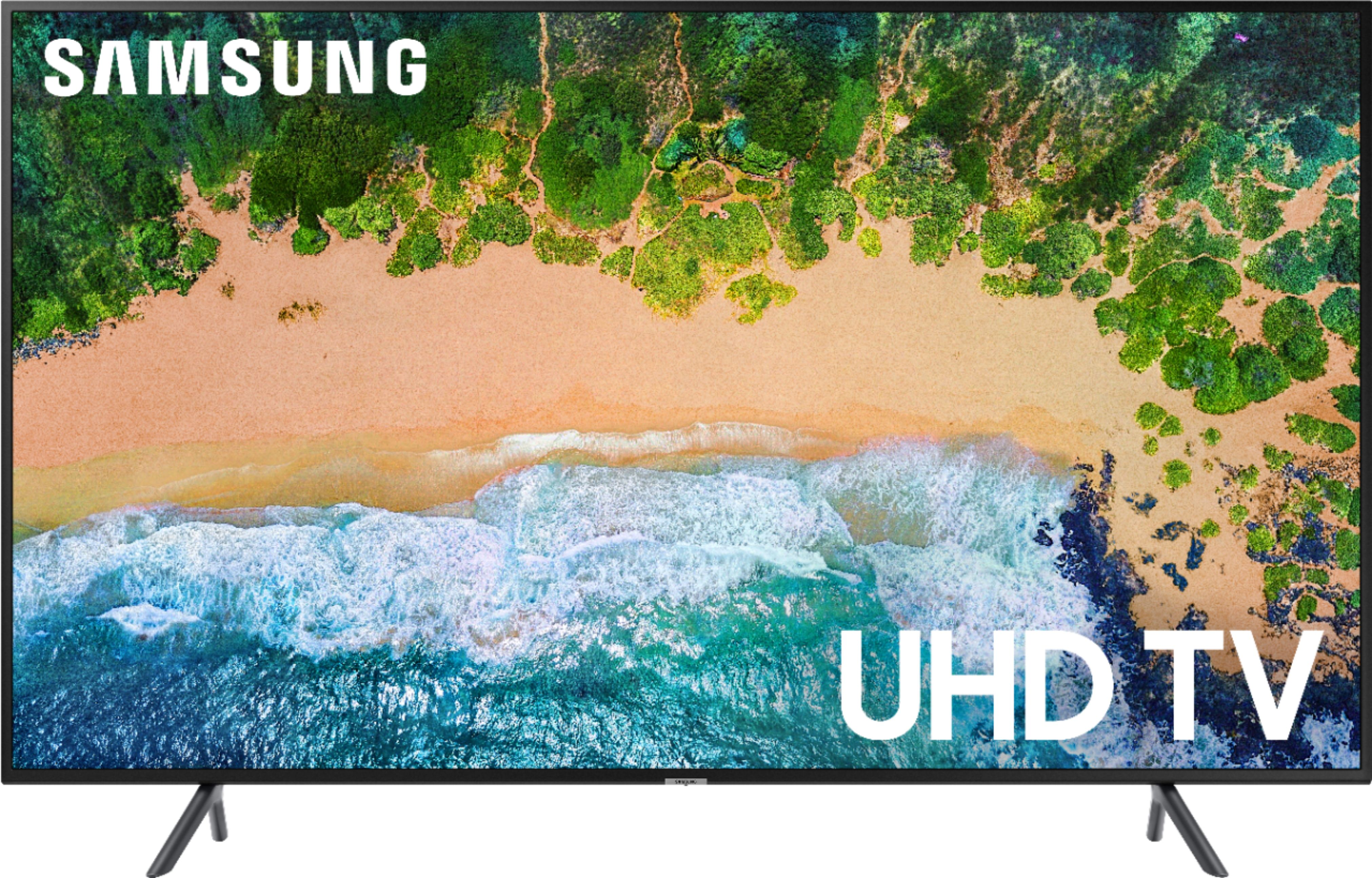 samsung 58 class led nu7100 series 2160p smart 4k uhd tv with hdr black un58nu7100fxza best buy