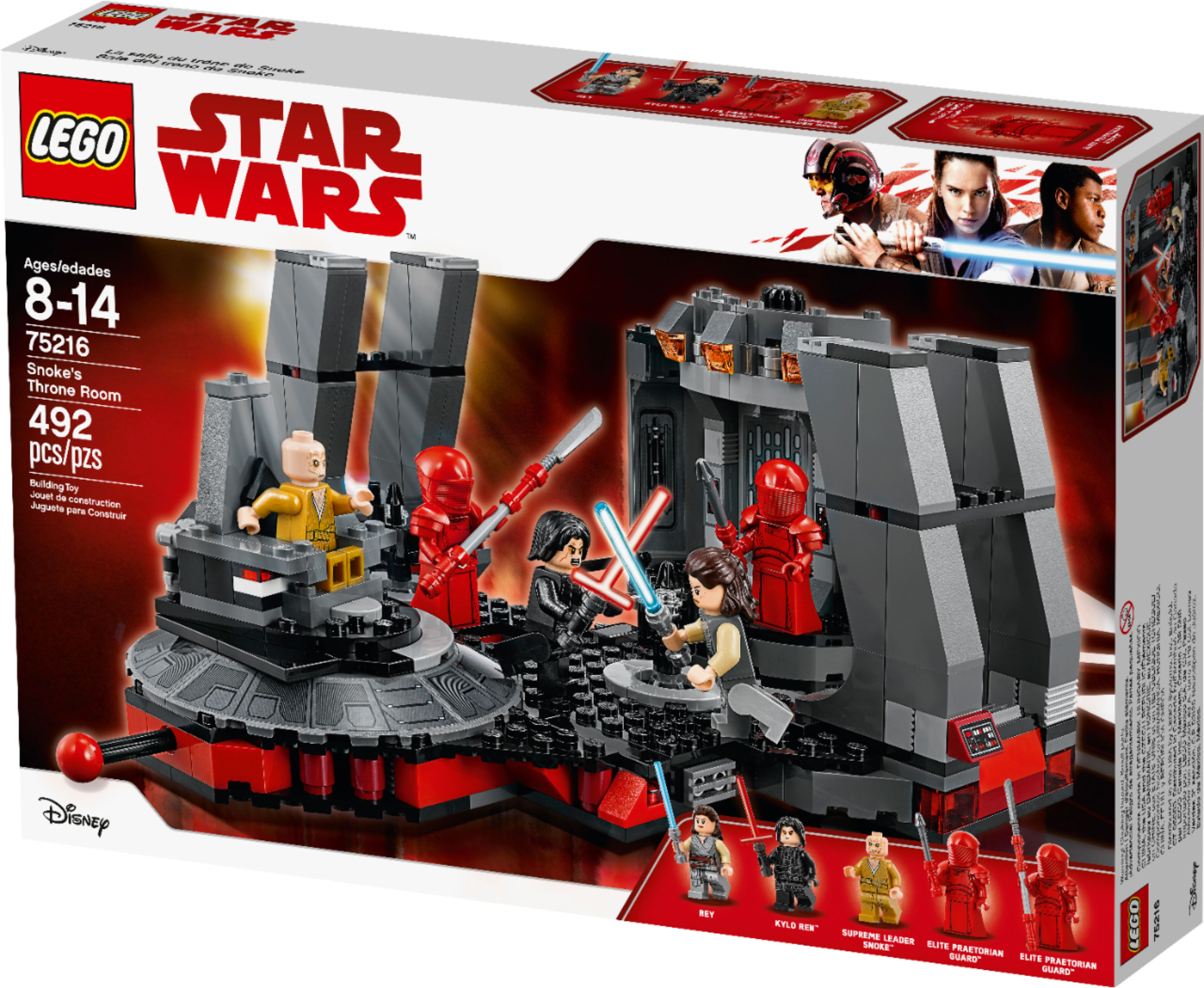 Lego Star Wars Snokes Throne Room 75216