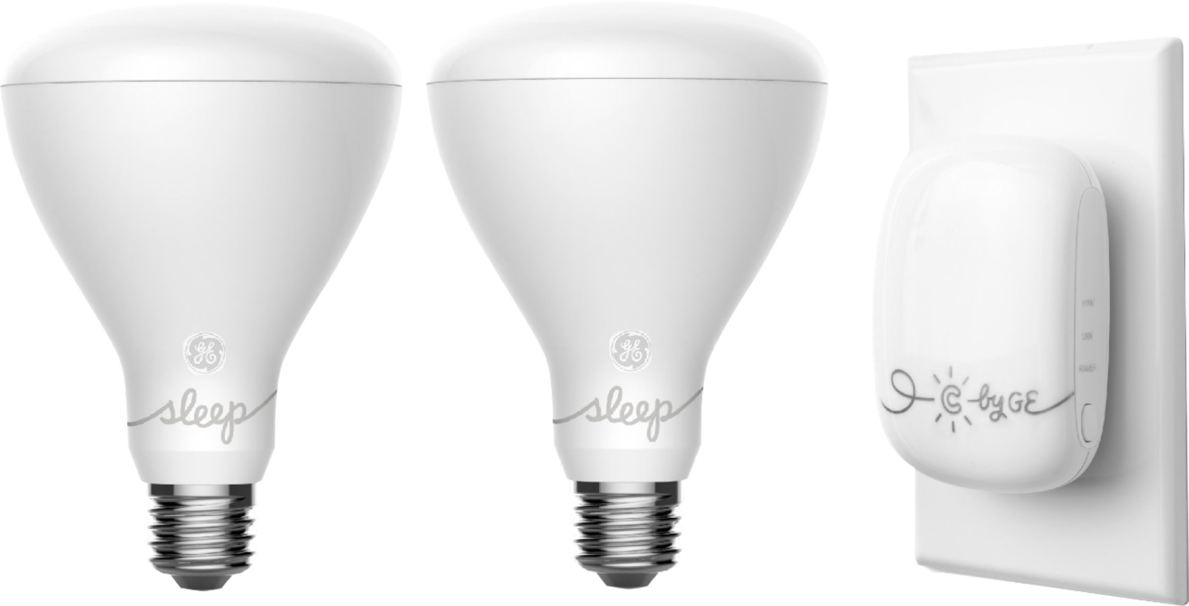 c by ge c sleep br30 led starter kit adjustable white