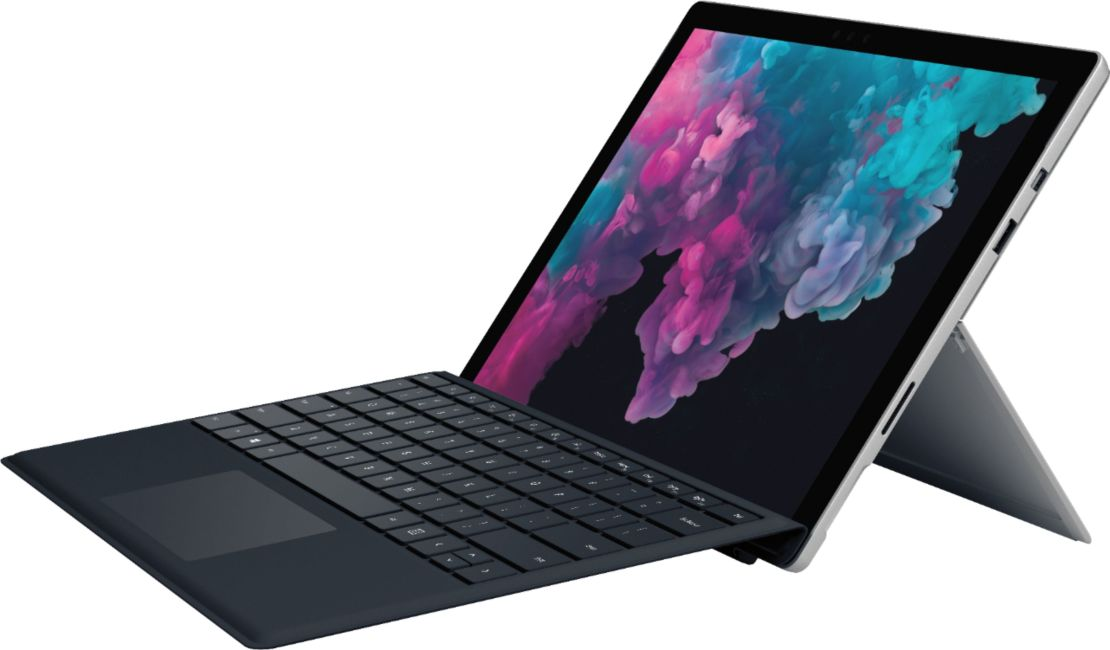 "Microsoft - Surface Pro with Black Keyboard – 12.3"" Touch Screen – Intel Core M3 – 4GB Memory – 128GB SSD - Platinum"