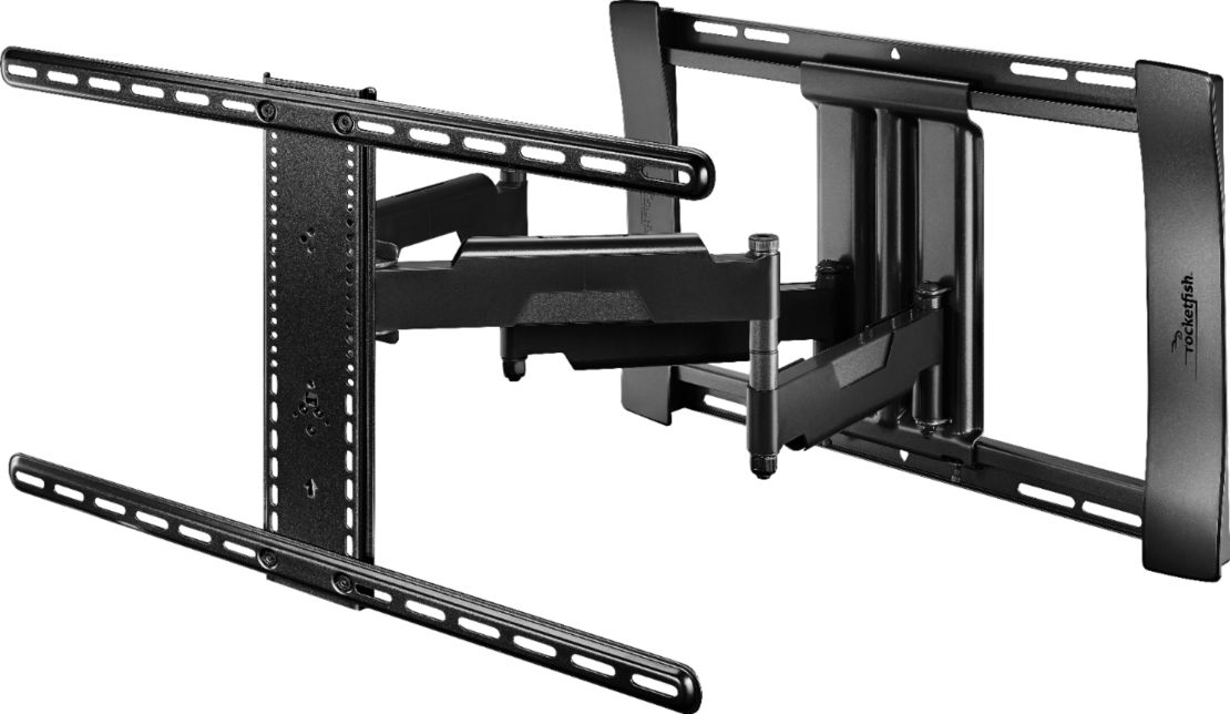 "Rocketfish™ - Full-Motion TV Wall Mount for Most 40"" - 75"" TVs - Black"
