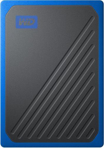 WD - My Passport Go 1TB External USB 3.0 Portable Solid State Drive - Black/Cobalt