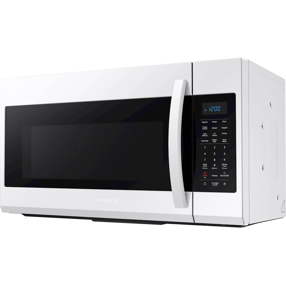samsung 1 9 cu ft over the range microwave with sensor cook white