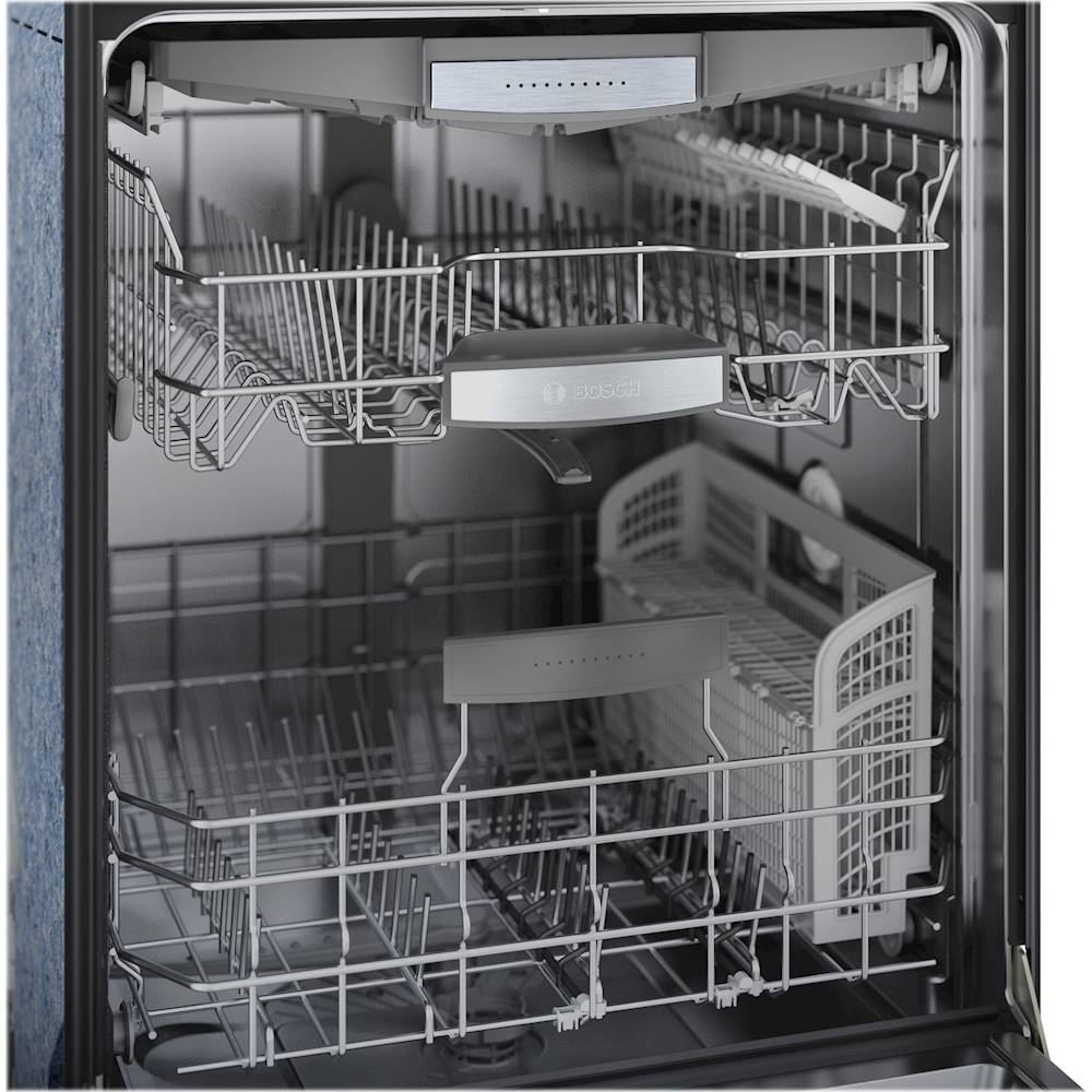 bosch 800 series 24 front control built in dishwasher with crystaldry stainless steel tub 3rd rack 42 dba black