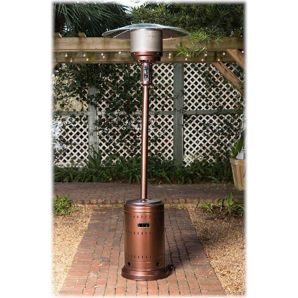 fire sense patio heater aged chestnut