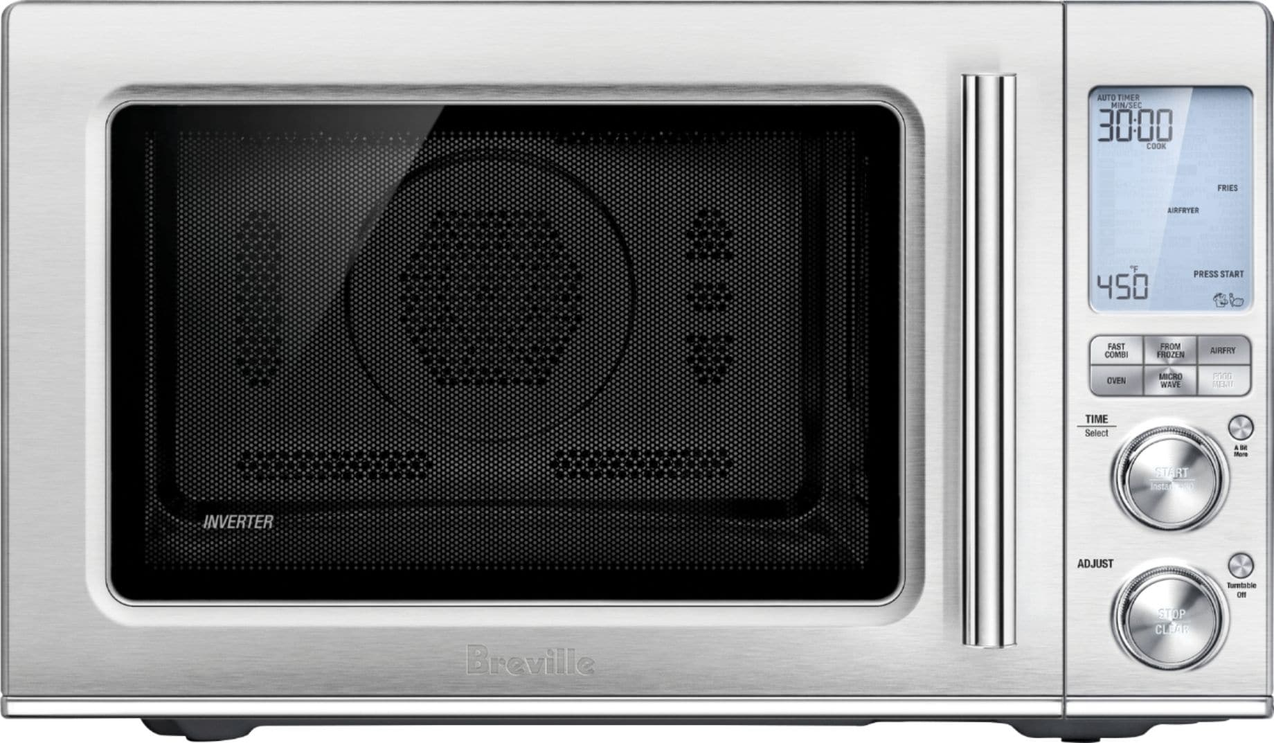 breville the combi wave 3 in 1 1 1 cu ft convection microwave brushed stainless steel
