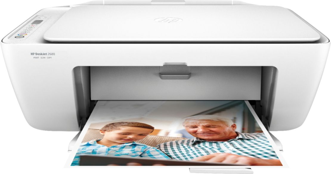 HP - DeskJet 2680 Wireless All-In-One Printer with $10 of Instant Ink Included - White