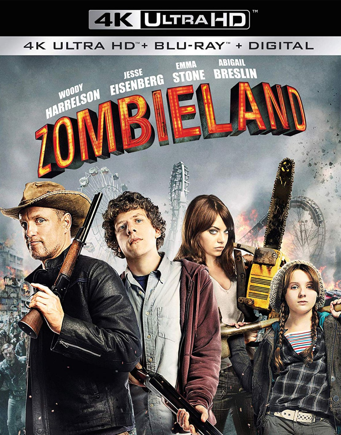 Zombieland [Includes Digital Copy] [4K Ultra HD Blu-ray/Blu-ray] [2 Discs] [2009]