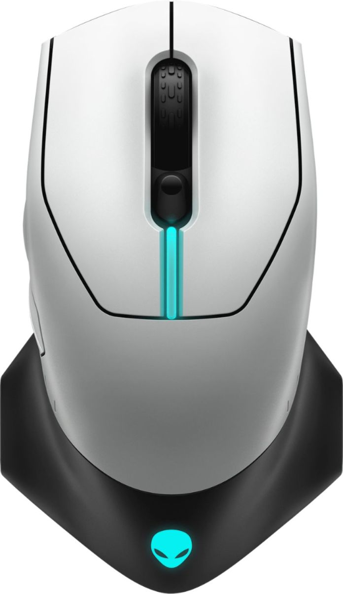 Alienware Aw610m Wired Wireless Optical Gaming Mouse Rgb Lighting Lunar Light Aw610m L Best Buy